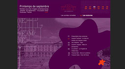 template de site culturel pour le Printemps de Septembre à Toulouse