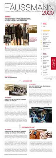 newsletter interne du magasin Haussmann